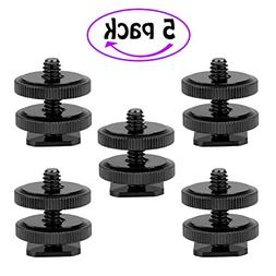 Kamisafe Camera Hot Shoe Mount to 1/4-20 Tripod Screw Adapte