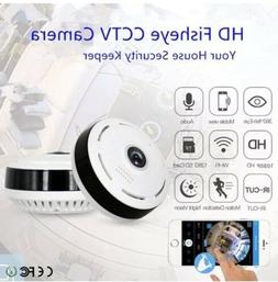 1080P V380 360 degree Panoramic Fisheye Wifi Baby,Pet Securi