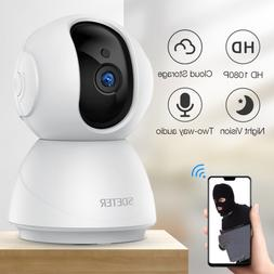 Sdeter 1080pWireless Home Security Camera, Night Vision, WiF