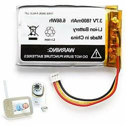1800mAh Safety Replacement Battery For Infant Optics DXR-8 V