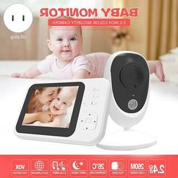 1X(3.5 Inch Baby Monitor Wireless Baby Security Camera Night