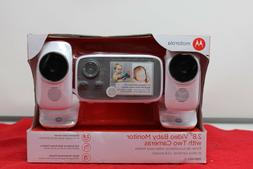 """Motorola 2.8"""" Video Baby Infant Monitor with Two Cameras"""