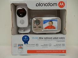"Motorola 2.8"" Video Baby Monitor  With Wi-Fi, Two Way Commun"