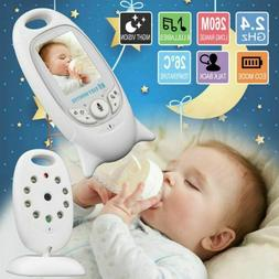 "2"" Baby Monitor 2.4GHz Color LCD Wireless Audio Talk Night V"