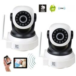 2 IP Baby Monitor Security Camera Wireless Wi-Fi Remote Audi