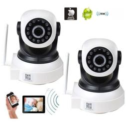2 Baby Monitor Wireless IP Remote Security Camera IR for iPh