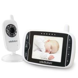 HelloBaby 3.2 Inch Video Baby Monitor with Night Vision  Tem
