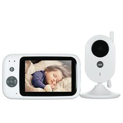 """3.5""""  Wireless Baby Video Monitor 2-way Talk Color LCD Displ"""