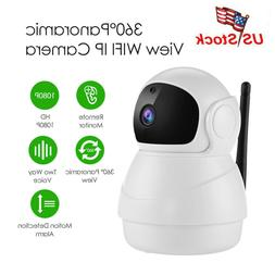 360° 1080P Wireless Baby Monitor Security Surveillance IP H