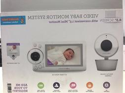 Project Nursery 4.3Video Baby Monitor System with 1.5Mini Mo