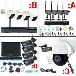 4CH 1080P HD Wireless Security Camera System & Monitor CCTV