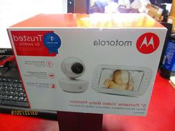 MOTOROLA 5'' PORTABLE VIDEO BABY MONITOR MBP36XL NEW