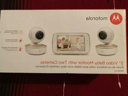 "Motorola 5"" Video Baby Monitor with Two Cameras"