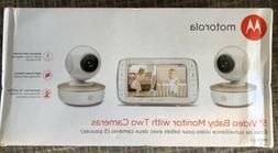 """Motorola 5"""" Video Baby Monitor with Two Cameras - MBP50-G2 -"""