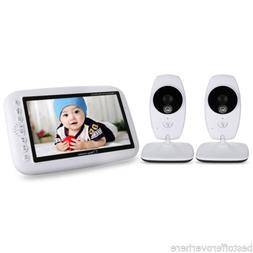 "7.0"" TFT Wireless Night Vision Video Baby Monitor Dual View"