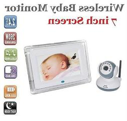 7 inch Screen 2.4GHz Wireless Baby Monitor Video Talk Camera