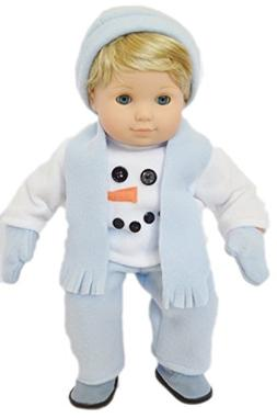 SNOWSUIT FOR AMERICAN GIRL DOLL BITTY TWINS BOY WITH BOOTS!