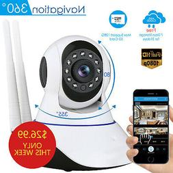 Wireless WIFI HD 1080P Pan Tilt Security IP Baby Camera Vide