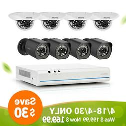 Zmodo Smart PoE Security System - 8 Channel NVR & 8 x 720p I