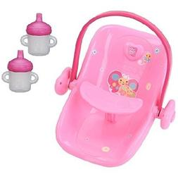 Baby Alive Doll Car Seat And 2 Pack Sippy Cup Bundle For 16