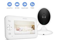 """Baby 4.3"""" Video Monitor Camera,1000ft Range,Temperature In"""