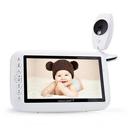 "Video Baby Monitor, with 7.0"" Large LCD Screen, Video Record"