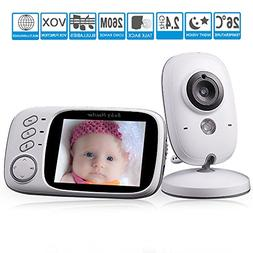 "GooDee Baby Video Monitor 3.2"" LCD Baby Monitors with Camera"