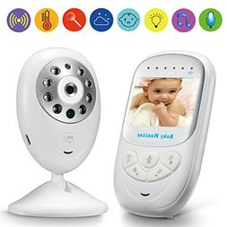"Video Baby Monitor GooDee 2.4"" TFT LCD Baby Monitor with Nig"