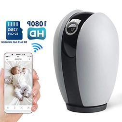 Ssnwrn Baby Monitor 1080P WiFi IP Camera with Infrared Night