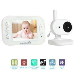 "Baby Monitor Wireless 3.5""LCD Audio Video Portable Baby Came"