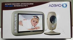 "Onega Baby Monitor Wireless Two Way Video 7.0"" Large LCD Scr"