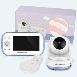 """DBPOWER Baby Monitor with 4.3"""" Split Screen Sound Activated"""