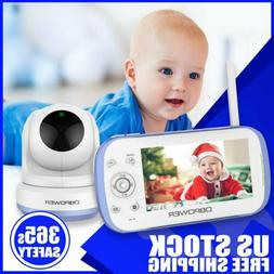 """NEW DBPOWER Baby Monitor with 4.3"""" Split Screen Sound Activa"""