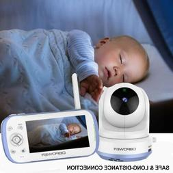 "DBPOWER Baby Monitor with 4.3"" Split Screen Sound Activated"