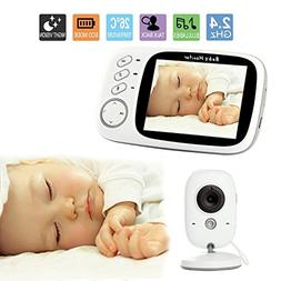 Wireless Video Baby Monitor with Digital Camera, 3.2inch LCD