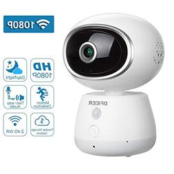 1080P HD Baby Pet Nanny Monitor Camera, Remote Monitoring Wi