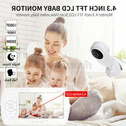 """Baby Video Monitor 1080P Wireless Security Camera 4.3"""" LCD S"""