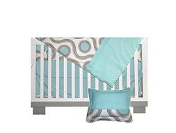 BEBELELO-Aqua and taupe baby - Gender for boy Baby Bedding 7