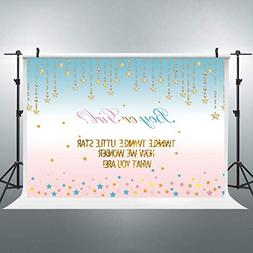 Riyidecor Boy or Girl Twins Baby Shower Backdrop Turquoise T