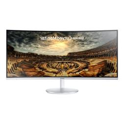"Samsung C34F791 34"" Silver Curved FreeSync Gaming Monitor 34"