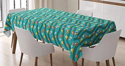 Cars Tablecloth Linen Decor Table Cover for Kitchen Dinning
