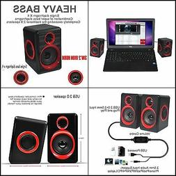 Computer Speakers BeBomBasics SP10 USB Multimedia Audio for