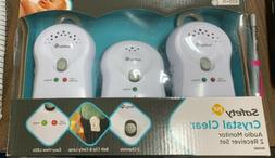 Safety 1ST Crystal Clear Audio Baby Monitor 2 Reciever Set