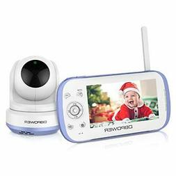 DBPOWER Video Baby Monitor 270o Pan-Tilt-Zoom 4.3 Large Scre