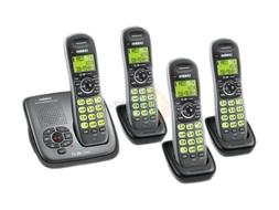 Uniden DECT Silver Cordless Phone System with 4 Handsets and