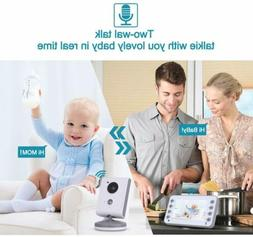 Digital Wireless Baby Monitor Night Vision Video Two-Way Aud