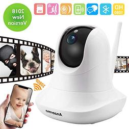 Baby Monitor Wireless, Anzermo Dome Camera 1080P Full HD WiF
