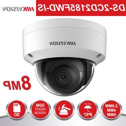 Hikvision Dome IP Camera 8MP Outdoor DS-2CD2185FWD-IS Audio