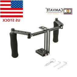 CAMVATE DSLR Camera LCD Monitor Cage with Foam Handles Handg