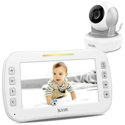 """Axvue Monitors E650 Video Baby With 5.0"""" LCD Screen And Pan"""